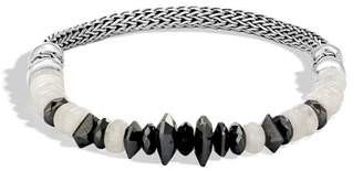 John Hardy Classic Chain Bracelet With Hematite Mixed Black And White