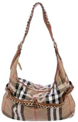 Burberry Leather-Trimmed House Check Hobo ef135238ca086