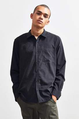 Urban Outfitters Faux Silk Button Front Shirt