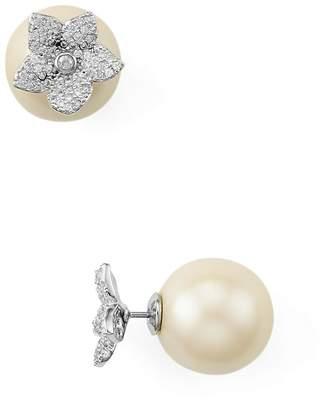 Kate Spade Pave Bloom Reversible Stud Earrings