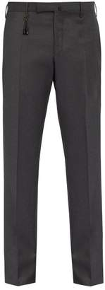 Incotex Slim Leg Wool Trousers - Mens - Grey