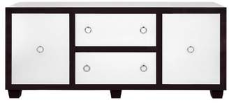 Worlds Away Rosewood Console With White Lacquer Doors And Nickel Harware