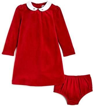 Ralph Lauren Girls' Velour Dress & Bloomers Set - Baby