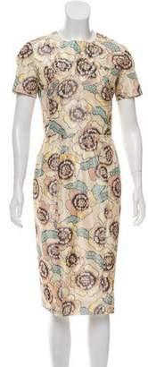 Rochas Short Sleeve Midi Dress
