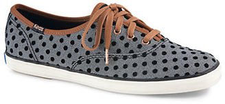 Keds Champion Herringbone and Polka Dot Sneakers $55 thestylecure.com