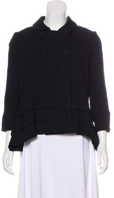 Thakoon Double-Breasted Pleated Jacket