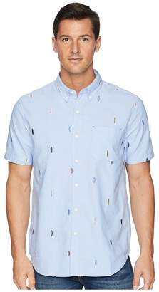 True Grit Island Time Embroidered Paddle Out Shirt Men's Short Sleeve Button Up