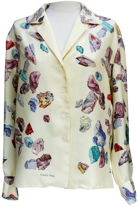 Hermes Yellow Silk Top for Women Vintage