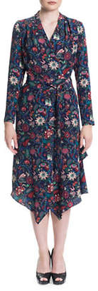 SONIA ARORA DESIGNS Liberty Print Silk Wrap Dress