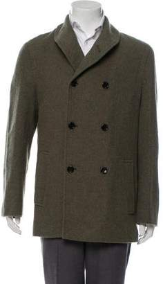 Marc by Marc Jacobs Wool Shawl Collar Double-Breasted Peacoat