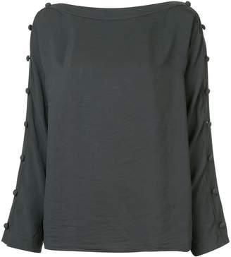 Smythe button sleeve blouse