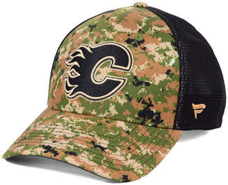 Authentic Nhl Headwear Calgary Flames Military Appreciation Speed Flex Stretch Fitted Cap