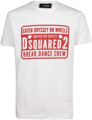 DSQUARED2 Break Dance Crew Print T-shirt