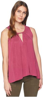 Lucky Brand Sand Wash Cut Out Tunic Top Women's Sleeveless