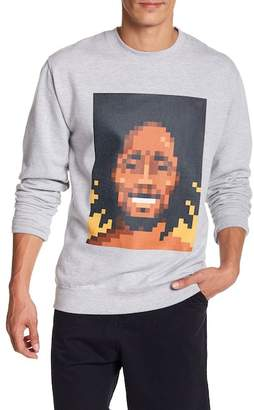 Very Important Pixels Dreads Pixelated Graphic Print Sweater