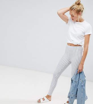 Asos Tall DESIGN Tall skinny ponte pinstripe trousers