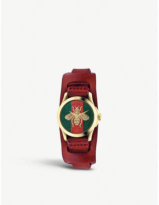 Gucci YA126546 G Timeless gold-plated stainless steel watch