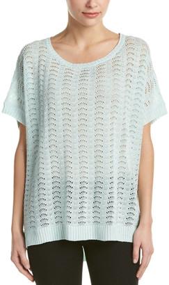 Joan Vass Linen-Blend Top