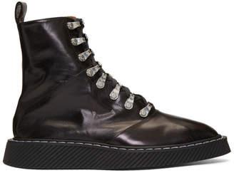 Jil Sander Black Tripon Ankle Boots