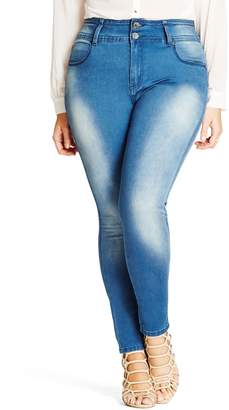 City Chic 'Harley' Stretch Skinny Jeans