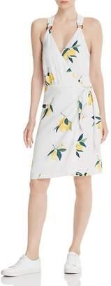 Rails Trista Lemon Print Wrap Dress