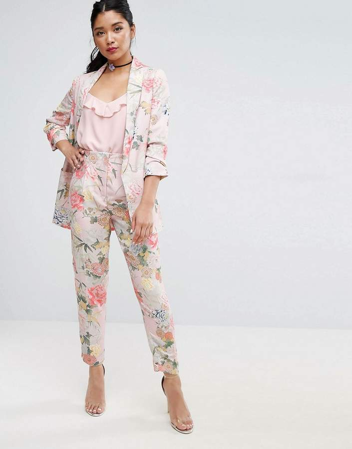 Asos ASOS Mix & Match Floral Bloom Slim High Waist Pants