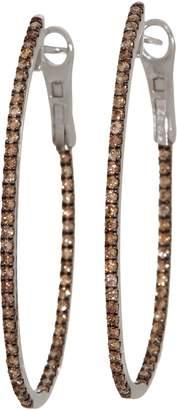 1.00 cttw Colors of Diamond Hoop Earrings, Sterling