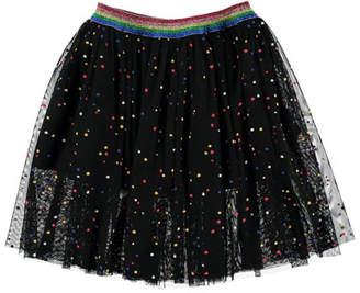 Stella McCartney Dot Tulle A-Line Skirt, Size 4-14