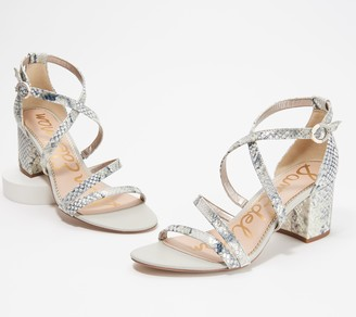 Sam Edelman Animal Print Strappy Heeled Sandals - Stacie