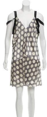 Calvin Klein Collection Silk Sleeveless Mini Dress