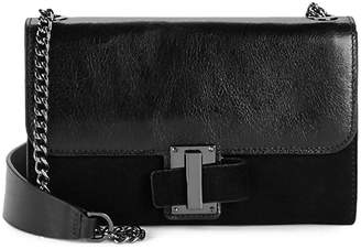 Halston Convertible Leather Clutch