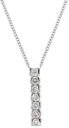 Bony Levy 18K White Gold Diamond Bar Pendant Necklace - 0.24 ctw