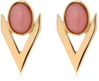 Iosselliani V Cabochon Pink Opal Earrings