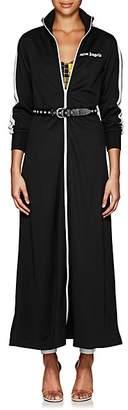 Palm Angels Women's Logo Tech-Jersey Long Jacket Dress - Black