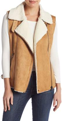 Do & Be Do + Be Faux Suede & Faux Shearling Lined Vest
