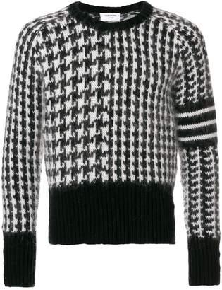Thom Browne Wool Fun Mix Crewneck Pullover
