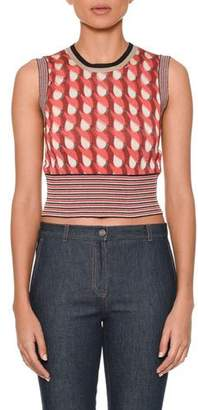Bottega Veneta Sleeveless Crewneck Cropped Knit Top