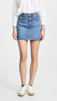 Madewell Rigid Denim A-Line Mini Skirt in Lakeline Wash: Eco Edition