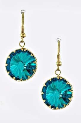 Crystal Avenue Turquoise Dangle Earrings
