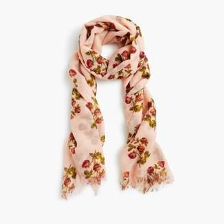 J.Crew Lightweight wool scarf in vintage floral