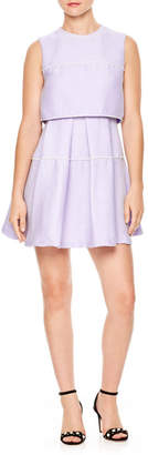 Sandro Bead Trim Fit & Flare Dress