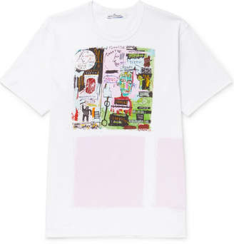 Comme des Garcons Printed Cotton-Jersey T-Shirt - White