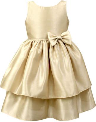 Jayne Copeland Little Girls Tiered Shantung Dress