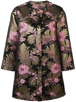 Josie Natori Deco jacquard long jacket