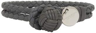 Bottega Veneta Grey Intrecciato Double Knot Bracelet