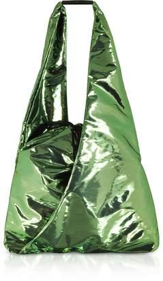 Maison Margiela Metallic Drawstring Backpack w/ Shoulder Strap