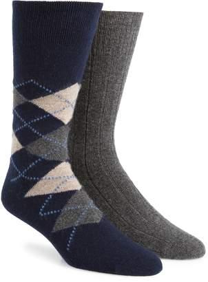 Nordstrom Signature 2-Pack Cashmere Blend Socks