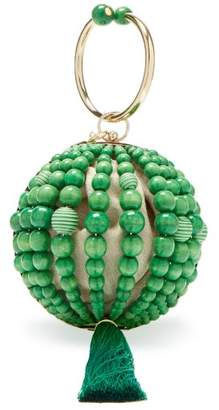 Rosantica By Michela Panero - Billie Bead And Tassel Ball Clutch - Womens - Green