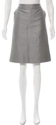 Akris Punto Brocade Knee-Length Skirt