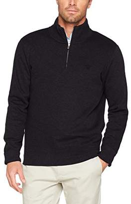 Gant Men's Sacker Rib Half Zip Collar Sweater